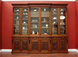 Narrow Mahogany Bookcase by Library Cabinet With Glass Doors Choice Image Glass Door
