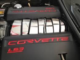 corvette stainless creations corvette c6 chrome 7 intake plenum cover