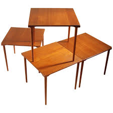 Teak Tables Versatile Occasional Teak And Brass Tables Model Fd 523 By Peter