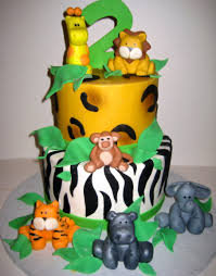Cake Decoration Ideas At Home Interior Design New Jungle Theme Cake Decorations Home Style