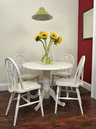 small round table u0026 chair set painted in old white my favorites