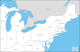 Map Of Usa States With Names by North East Usa Free Map Free Blank Map Free Outline Map Free