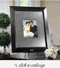 engravable wedding guest book contemporary signature picture guest book frame with engraved