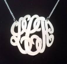 3 Initial Monogram Necklace Sterling Silver Sterling Silver Texas Necklace By Kimsjewelry On Etsy 18 00