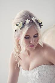 floral headband flower crown floral headband bridal crown wedding circlet