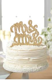 gold wedding cake toppers wedding cake topper mr and mrs wedding corners