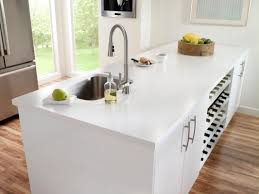 black and white kitchen design using white acrylic kitchen
