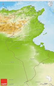 tunisia physical map physical 3d map of tunisia