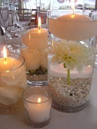 Vases With Floating Candles Centerpieces Candles Vases Lace Diamonds Rhinestones Ribbon