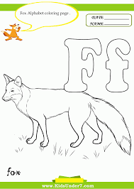 f is for fox coloring page coloring home