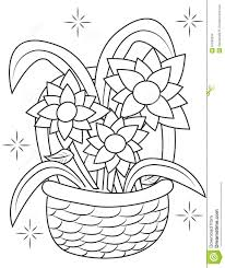 coloring page flower basket coloring pages coloring page and