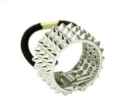 hair bobble spike hair tie band darkstorm store
