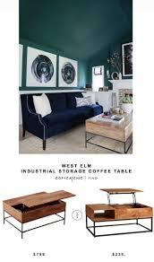 west elm industrial storage coffee table 220 best industrial coffee tables images on pinterest apartments