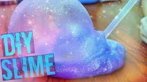 diy galaxy slime without food coloring paint super easy youtube