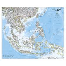 map asia southeast asia classic wall map laminated national geographic store