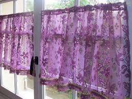 Tier Curtains Kitchen by Purple Colored Kitchen Tier Curtains Kitchen Curtains