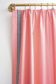 Greek Key Pattern Curtains Diy Lucite Curtain Rod And Greek Key Trim Curtains Window