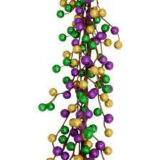 glitter berry mardi gras garland 6 u0027 xg766474 mardigrasoutlet com