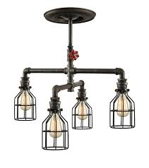 steampunk industrial ceiling light industrial pipe light