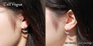 two way earrings way front back earrings for women sterling silver callvogue