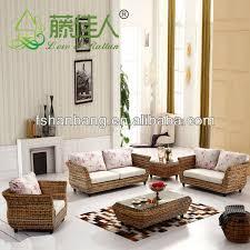 Rattan Two Seater Sofa High Quality Modern Balcony Sunroom Wicker Indoor Natural Rattan