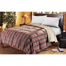 Black Goose Down Comforter Reversible Goose Down Comforter Red Plaid Solid Khaki 124179