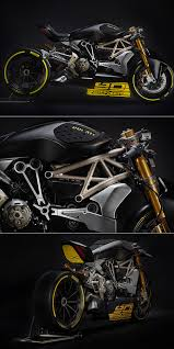 ducati draxter motorcycle sports matte black paint job is perfect