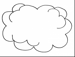 awesome printable clouds coloring pages for kids with cloud