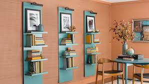 Wall To Wall Bookcases Lighted Vertical Wall Shelf