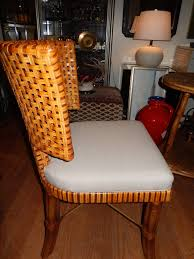 Woven Dining Room Chairs Leather Wickerh Seats Furniture - Woven dining room chairs
