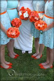 purple and orange wedding ideas wedding color ideas mint blue orange flowers and shoes
