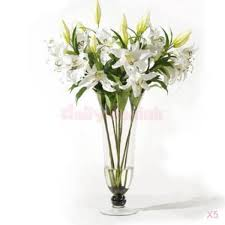 wedding flowers ebay 5 stem artificial flowers plants bouquet home wedding
