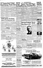 Abilene Reporter News From Abilene Texas On March 10 1955 by Abilene Reporter News From Abilene Texas On January 29 1963