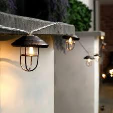 led lantern string lights outdoor lantern string lights awesome 10 led battery outdoor garden