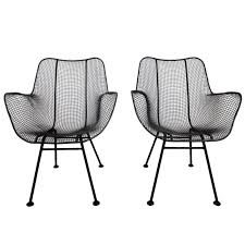 Mid Century Outdoor Chairs Midcentury Set Of Four Painted Iron Patio Chairs At 1stdibs Within