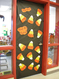 Red Ribbon Week Door Decorating Ideas Happy Scarecrow Halloween Door Decoration See More Party Ideas