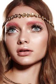 halloween hippie makeup looks fall couture week makeup trends