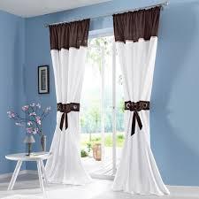 Bilder Schlafzimmer Amazon Amazon De Souarts Braun Gardine Vorhang Schlaufenschal Deko Für