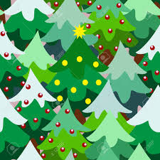 christmas theme pine tree forest close up seamless pattern