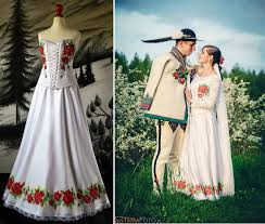 lovely handpainted wedding dresses from poland are becoming