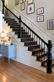 Black Banister Dishy Black Staircase Staircase Eclectic With Black Treads Closed