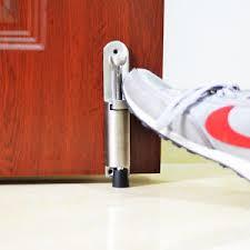 door stopper luxury stainless steel telescopic door stopper spring loaded step on