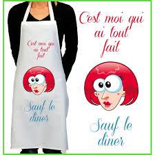 tablier cuisine personnalisé pas cher tablier de cuisine rigolo pour la femme et pour l homme