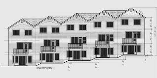 townhouse plans 5 plex plans row house plans townhouse plans
