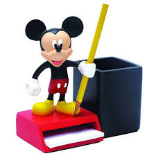 bureau mickey mickey mouse pencil and notepad holder mickey