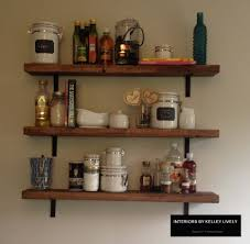 diy rustic kitchen shelves u2013 interiors by kelley lively