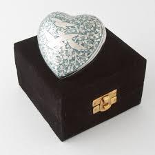 birds in flight heart keepsake polished nickel blue pet urns