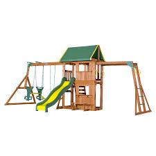 backyard discovery weston all cedar playset the home depot image