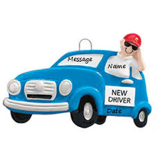 buy new driver blue car boy personalized ornament from a large