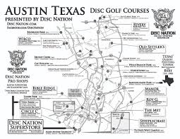 Austin Maps by Disc Golf Superstore Disc Nation The Original